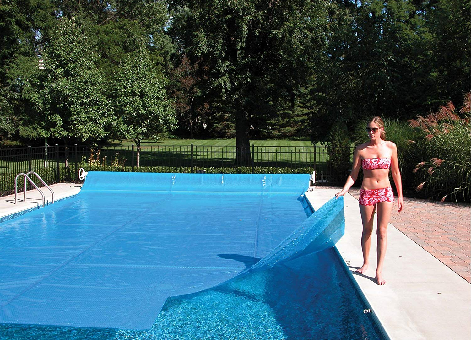 solar pool covers bubble side up or down